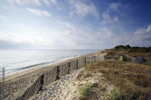 canvas print picture dune et camping sauvage en corse