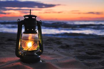Öllampe - Abendstimmung