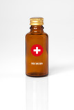 secours sirop fiole bouteille urgence antidote solutions infirme poster