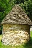 medieval limestone hut in perigord in france