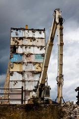 Immeuble en cours de déconstruction