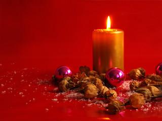 weihnachten mit Glasschmuck