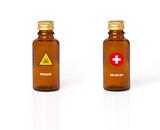 poison remède secours danger dangereux flacon fiole chimie acide poster