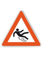 Warnschild vor Rutschgefahr