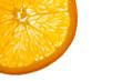Orangen-Querschnitt