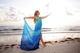dancer in goddess like pose poster