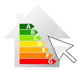 Maison classement énergétique curseur