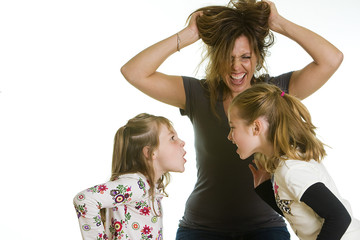 Fighting Kids Frustrated Mom