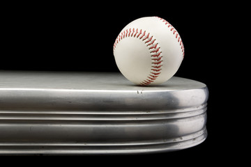 Baseball on Chrome Table