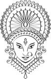 Calligraphic Durga Indian Goddess poster