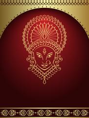 Calligraphic Durga Indian Goddess