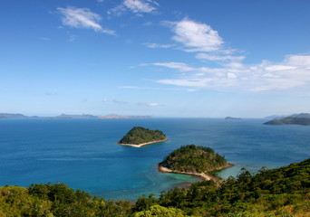 Australia, Whitsundays. View from the top of South Molle Island