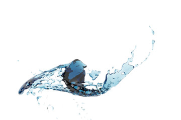 Fantasy soar Abstract water splash and bubble liquid