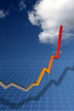 Trend curve pointing to sky-high success poster