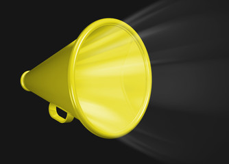 Megaphone shouting