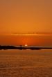 coucher de soleil sur une plage au Maroc