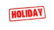 Stamp HOLIDAY