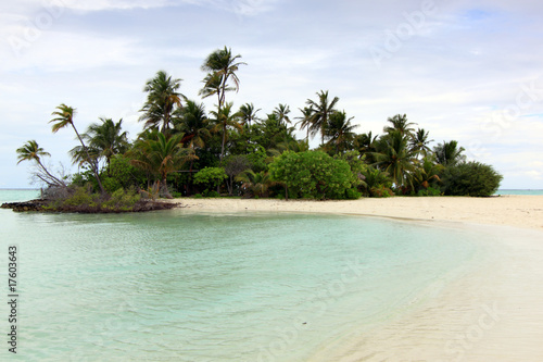 Uninhabited tropical island