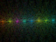 Abstract multicolor lights disco tile vector background.