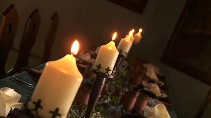 Kerzen im Rittersaal