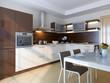 Modern kitchen. Interior design idea.Computer graphic rendering.