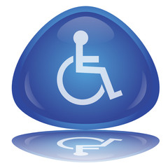 "Bouton ""Symbole Handicap"" -- ""Disabled Sign"" Button"