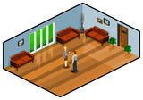 Lobby Room. Isometric Series