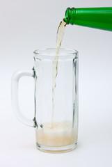 Flowing beer