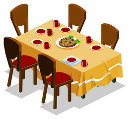 Family Dinner. Isometric Series