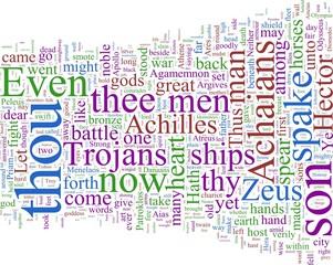 Word cloud - Homer's Illiad