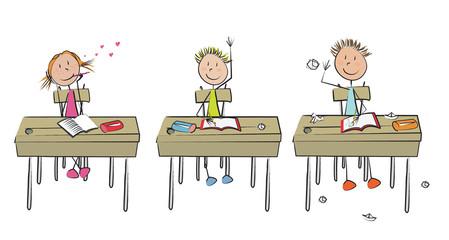3 enfants classe