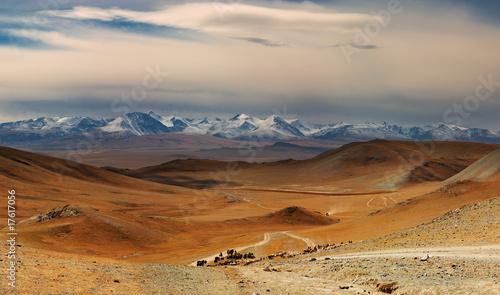 Fotobehang Bergen Mongolian landscape