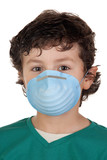 Child infected with influenza A poster