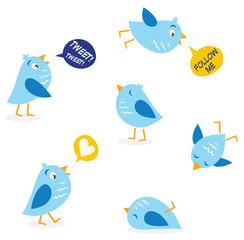 Twitter birds. Vector.