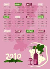 Calendario uva e vino 2010 italiano