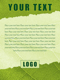 Template with Ragged Leaf Texture and Editable Text Fields poster