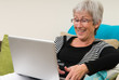 Senior Woman On A Laptop - 1