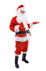 santa claus over white background