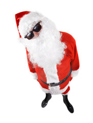 santa claus in shades over the white background