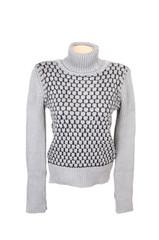 Grey stylish sweater on a white.