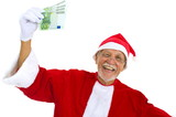 Earning Euros in Christmas poster