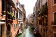 One of channels to Venice and gondolas,