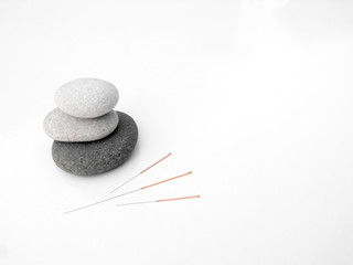 acupuncture needles concept of zen and earth
