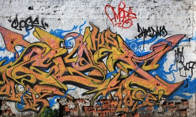 Abtrasct yellow graffiti