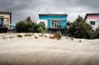 Ferienhäuser im Sturm