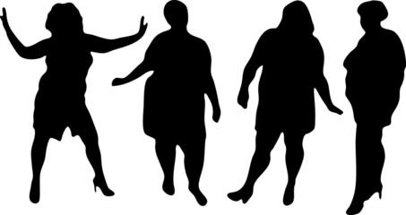 modelle grasse b/n
