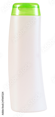 Beauty care bottle. Clipping path.