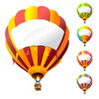 vector hot air balloons with banners - 17647807