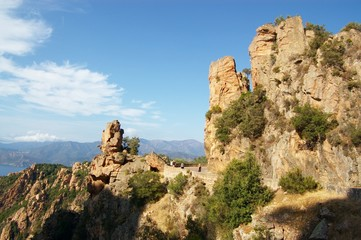 rocks of Calanche de Piana in Corsica
