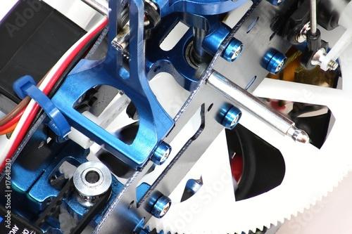 Hélicoptère modèle réduit aluminium et carbone - 17648230